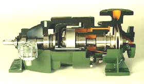 magnetically coupled centrifugal pump